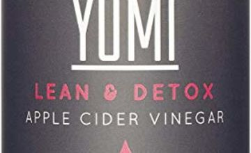 Yumi Apple Cider Vinegar Gummies with The Mother x 60-1000mg   Natural Detox Cleanse   Unfiltered ACV   Vegan & Gluten-Free   Apple Flavour