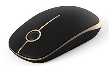 Jelly Comb 2.4G Computer Mice with Nano Receiver for PC/Desktop/Laptop (with USB ports), Silent & Smooth, Basic Design