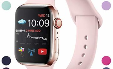 Hamily Compatible With Apple Watch Strap 38mm 42mm 40mm 44mm, Soft Silicone Waterproof Replacement for iWatch Series 5/4/3/2/1, Multi Colours