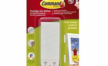 Command 17206 Adhesive Strip Picture Hooks, White, Size L, Pack of 4