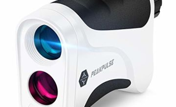 PeakPulse 6s Golf Rangefinder 400 Yards Rangefinder with Flag-Lock, 6X magnification, Distance Measurement, Perfect for Choosing The Right Club and Golfer Gift.