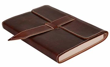 Antique Look Leather Diary for Women - 20x15 cm - Handmade P