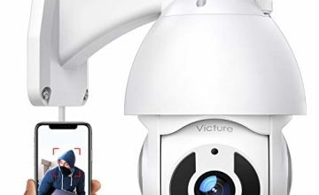 CCTV Camera Victure Security Camera Outdoor 1080P for Home Security with Pan/Tilt 360° View Night Vision IP66 Waterproof Smart Motion Tracking Compatible with IOS/Android