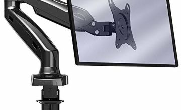"""Invision PC Monitor Arm – Ergonomic Height Assisted (Gas Powered) Full Motion Single Arm Desktop Clamp Mount for 17–27"""" Screens Adjustable Tilt Swivel VESA 75mm & 100mm Weight 2kg to 6.5kg (MX150)"""
