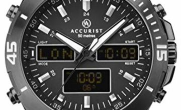 Accurist Mens Analogue-Digital Quartz Watch with Leather Strap 7192.01
