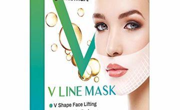 V Face Masks, Double Chin Reducer Lifting Face Mask,V-shape Facial Moisturizing Firming Mask