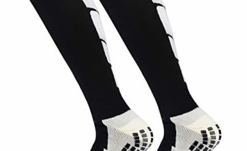 ZOUYUE 1 Pair High Performance Thermal Ski Socks, Warm Long Hose Cushioned Non-slip Aheletic Socks for Football Basketball Baseball Hiking Trekking