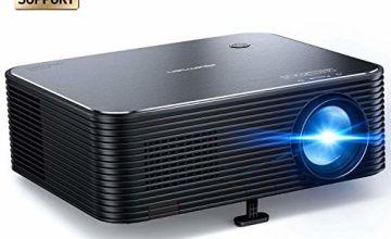 Projector, APEMAN Full HD Native 1080P,Support 4K