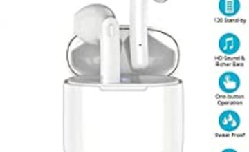 Wireless Earbuds Bluetooth 5.0, True Wireless Earbuds Headphones with Charging Case, 30Hrs Playback, One-Step Pairing, IP66 Waterproof Stereo Bluetooth Earbuds with Mic for Sports and Work