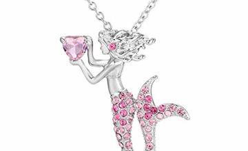 Cheerslife Mermaid Pendant Necklace for Little Girls Teen Ki