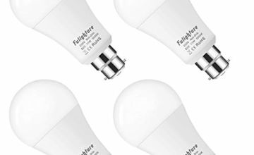 100W Equivalent B22 Bayonet LED Light Bulbs, Fulighture 11W A60 Frosted Globe Golf Ball Bulbs, Super Bright 1000LM, Warm White 3000K, Not Dimmable, for Living Room, Bedroom, Bathroom, Pack of 4