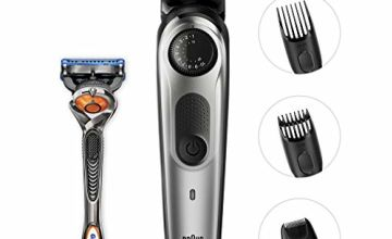 Braun BT5060 Beard Trimmer and Hair Clipper, Detail Trimmer Attachment, Life Time Sharp Blades, Free Gillette Fusion5 ProGlide Razor with Flexball Technology, Black/Silver