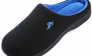 Wishcotton Men's Classic Two-Tone Memory Foam Slippers