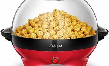 Yabano Popcorn Maker, 5L Electric Popcorn Machine for Healthy, Fat-Free Popcorn, 800W