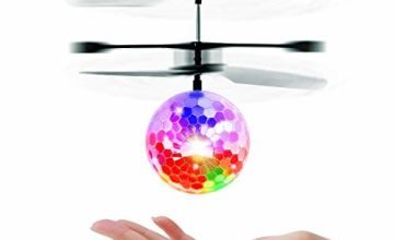 UTTORA Flying Ball, RC Helicopter Ball Kids Toys RC Infrared Induction Helicopter Fun Gadgets Mini Drone Flying Toys with Flashing LED Lights for Kids Adults