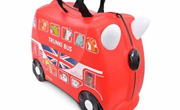 Trunki Children's Ride-On Suitcase & Hand Luggage: Boris the Bus (Red)