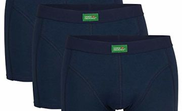 DANISH ENDURANCE Organic Cotton Stretch Boxershorts Underwear 3 Pack, for Men Tag-Free, Comfort