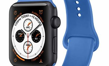 ATUP Strap Compatible with for Watch Series 5/4/3/2/1 Strap 38mm 42mm 40mm 44mm, Soft Silicone Replacement Straps Compatible with for iWatch Series 5, 4, 3, 2, 1 (08 Royal Blue, 42mm/44mm-M/L)