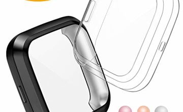CAVN Compatible with Fitbit Versa 2 Screen Protector, 2 Packs TPU Plated Versa 2 Screen Protector Case Rugged Cover Full-Cover Scratch-Proof Protective Bumper Shell Case for Fitbit Versa 2 Smartwatch