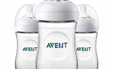 Philips Avent Natural Feeding Bottle 260ml, Pack of 3 – SCF033/37