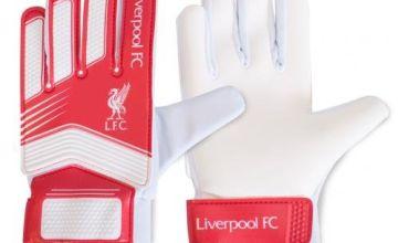 Liverpool Unisex's LI04853 Spike Goalkeeper Gloves, Multi-Colour