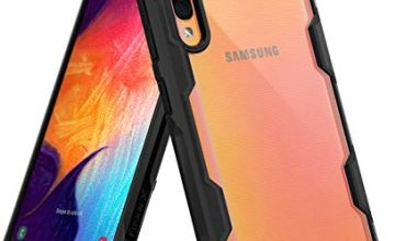 Ringke Fusion-X Designed for Galaxy A50 A50s A30s Case [Military Drop Tested Defense] PC Back TPU Bumper Resistant Protection Shock Absorption Technology Cover - Space Blue