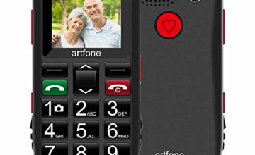 Big Button Mobile Phone for Elderly, Artfone Senior Mobile Phone GSM Dual SIM Free Unlocked with 1.77 Inch Colour LCD Display, SOS Button, Talking Numbers, Torch, FM Radio, Bluetooth and Camera