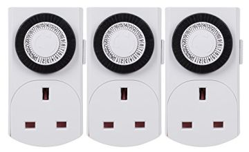 HBN 24 Hour Plug-in Compact Energy Saver Mini Programmable Mechanical Segment Timer Plug Switch