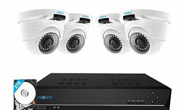 Reolink 4MP 8CH PoE Security Camera System, Home CCTV System with 4X 1440P Two Times 1080P Outdoor IP Cameras and 2TB Hard Drive NVR, 100ft Night Vision Audio Recording Remote Access, RLK8-420D4-4MP