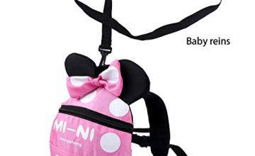 Baby Toddler Safety Harness Backpack Child Kids Cute Cartoon Strap Shoulder Backpack Bag with Reins Leash Rucksack Harness Walkers Tether Belt,for 1-3 Years Old Toddler.