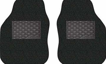 Save on Nicoman Universal Non-Slip Dirt-Traper Jet-Washable Car Mat(BLACK, Front Set 2-Piece) and more