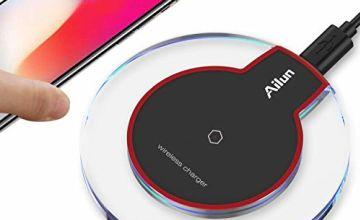 Ailun Wireless charger,Ultra-Slim&Protable,Slip-Proof Pad,Un