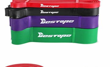 BESTOPE Resistance Band Pull Up Assist Band for Powerlifting and Yoga Premium Latex Durable Workout Stretch Exercise Loop Crossfit Band for Men and Women Training Fitness Band Red
