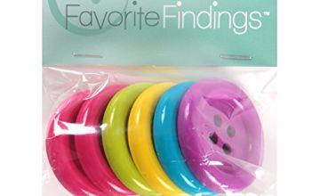 Favorite Findings Button Big Fun 35 mm 6 pcs. multicolour, 10x6x1 cm