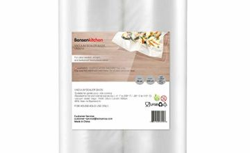 Bonsenkitchen Vacuum Food Sealer Rolls Bags, 2 Packs 28 x 600 cm Storage Bags (Total 12 m), Heavy-Duty Commercial Customized Size Food Bags for Food Storage and Sous Vide Cooking, VB3814