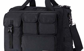 Lifewit Men's Military Laptop Messenger Bag Multi-functional Tactical Briefcase Computer Shoulder Handbags, Black