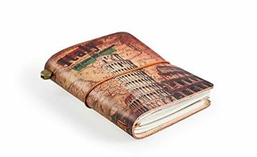 "Leather Journal, ""Italy"" Handmade Vintage Leather Notebook R"