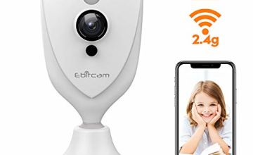 Ebitcam Mini Smart Wifi Camera,Wireless Baby Monitor with Night Vision, 2-Way Audio,Smart Alarm,Free One Year Cloud Storage