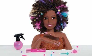 Save on JP Barbie JPL63345 Sparkle Deluxe Barbie Styling Head-Afro Hair and more