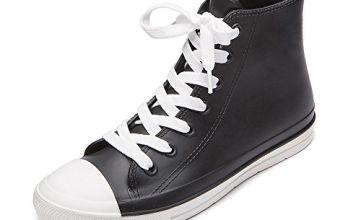 DKSUKO Womens Short Wellies Wellington Shoes Ladies Ankle Ra