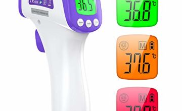 Infrared Thermometer Digital Thermometer for Adults IDOIT No Touch Thermometer for Fever, 2 in 1 Medical Thermometer Suitable for Babys Adults Elders