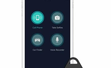 nonda iHere Key Finder, Phone Finder, Car Finder, Selfie Remote and Voice Recording Rechargeable Bluetooth Tracker for iPhone X/8/8S/7, iPad, Samsung Galaxy S8/S9/Note 4 and More (Gen 4)