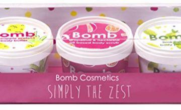 Bomb Cosmetics Simply The Zest Handmade Cleanse, Exfoliate & Moisturise Gift Pack [3 x 110ml]