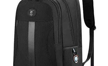 Laptop Backpack Anti-Theft Business Travel Work Computer Rucksack with USB Charging Port, 15.6 Inch Water Resistant Large College High School Bags for Boys Men Women Black