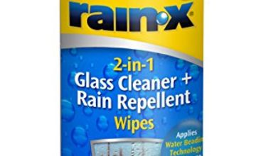 Save on Rain-X 88199WIPE 2-in-1 Glass Cleaner and RAIN Repellent Wipes, 20 and more