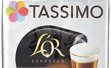 Tassimo L'OR Latte Macchiato Coffee Pods (Pack of 5, Total 80 pods, 40 servings)