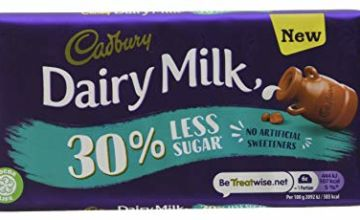cadbury Diary Milk 30% Less Sugar Chocolate Bar 85 g