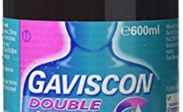 Gaviscon Heartburn and Indigestion Relief Liquid, Double Action, Mint Flavour, 600 ml