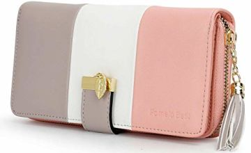 Ladies Purse, Women's Wallet with Multiple Card Slots and Roomy Compartment