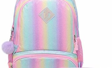 School Backpack for Girls - Students Magic Glitter Lightweight Travel Backpack Lovely Casual Daypack for Girls